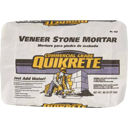 Quikrete 60 Lb. Gray Type S Veneer Stone Mortar Mix