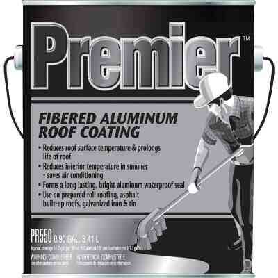 Premier 1 Gal. Fibered Aluminum Roof Coating