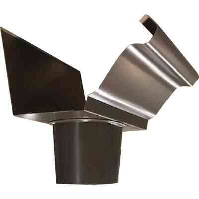 NorWesco 4 In. K Style Brown Steel Round Gutter Drop Outlet