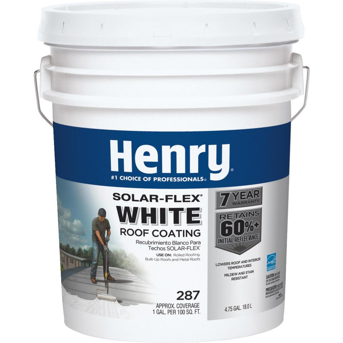 Henry SolarFlex 5 Gal. White Acrylic Latex Elastomeric Roof Coating Image 1