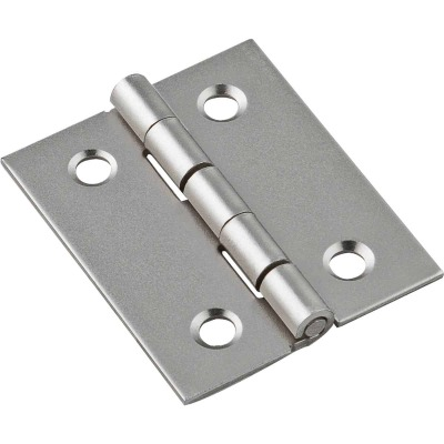 National 1-1/2 In. x 1-1/4 In. Satin Nickel Broad Hinge (2-Pack)