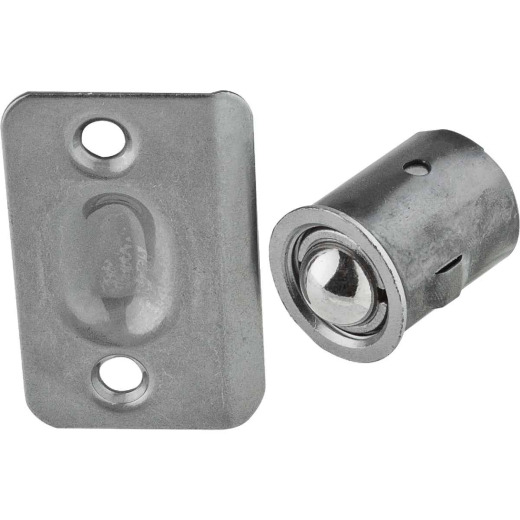 National 1440 Satin Chrome Drive-In Ball Catch