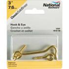 National Solid Brass 3 In. Hook & Eye Bolt Image 2