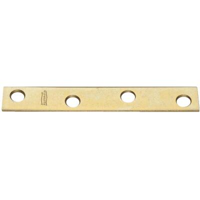 National Catalog 118 4 In. x 5/8 In. Brass Steel Mending Brace (4-Count)