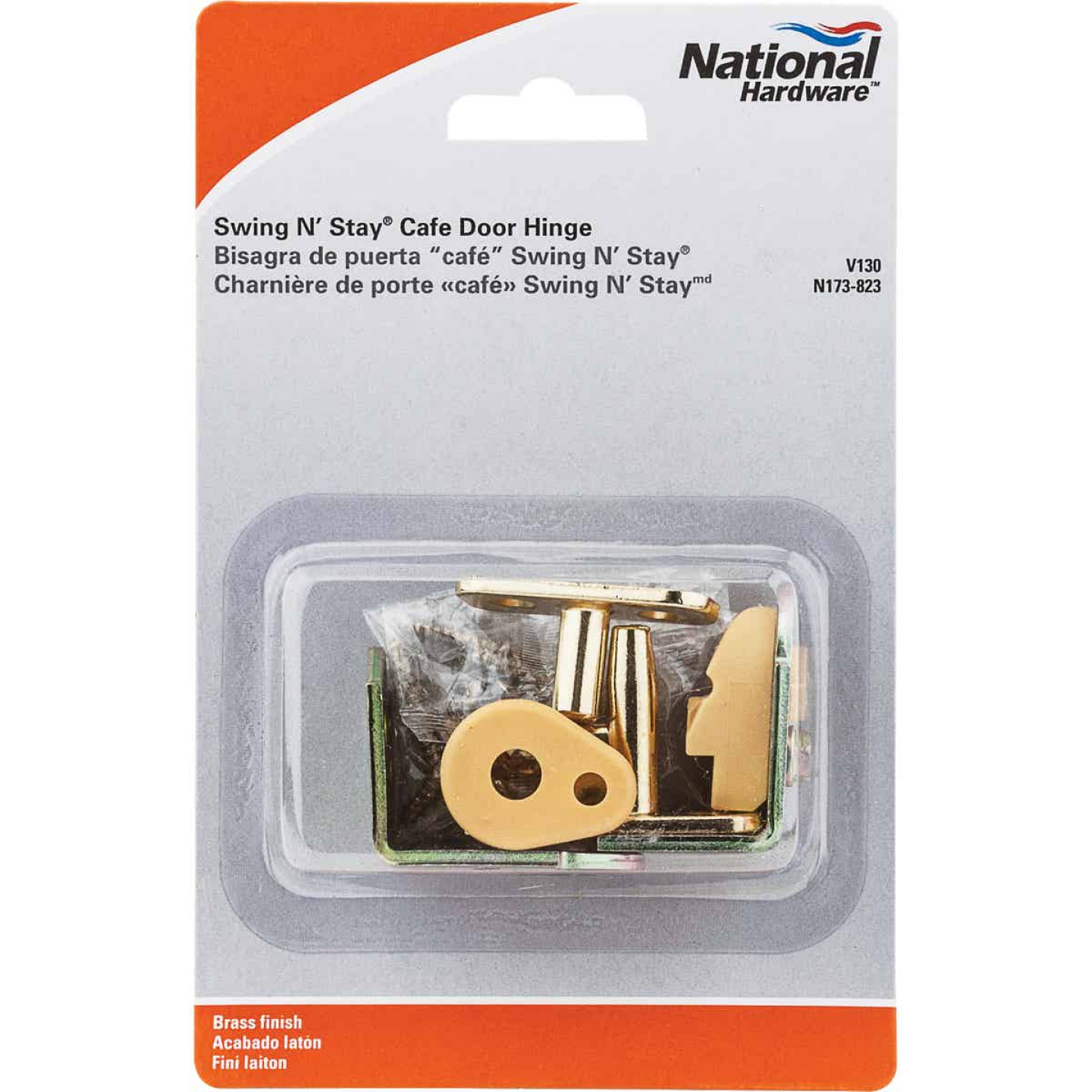 National 3/4 In. to 1-3/8 In. Satin Brass Swing & Stay Door Hinge Image 2