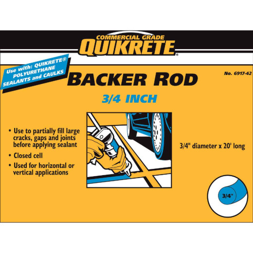 Quikrete 3/4 In. x 20 Ft. Gray Backer Rod