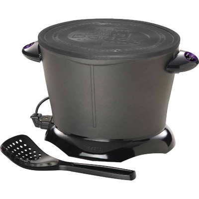 Presto DualDaddy 2 Qt. Black Aluminum Deep Fryer