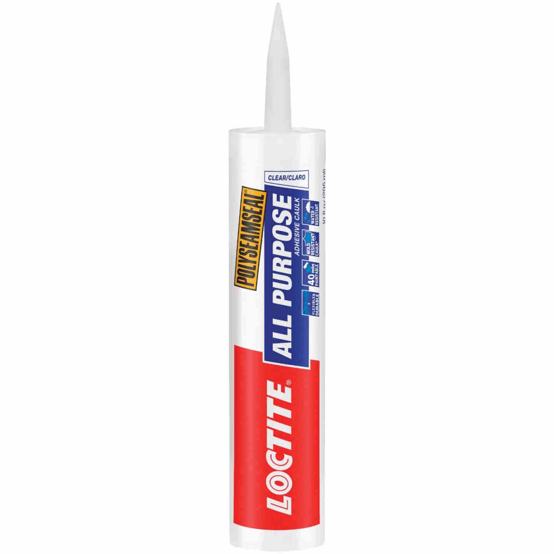LOCTITE POLYSEAMSEAL 10 Oz. Clear Adhesive Caulk Image 1