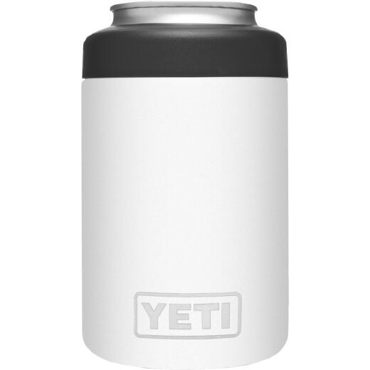 Yeti Rambler Colster 12 Oz. White Stainless Steel Insulated Drink Holder with Load-And-Lock Gasket
